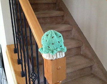 Adorable Knit Mint Chip Ice Cream Hat