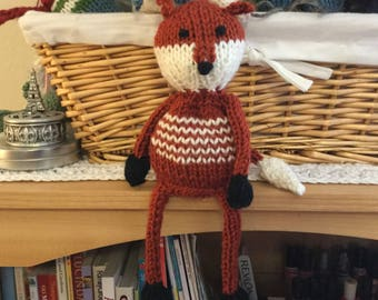 Little Knit Fox with Scarf