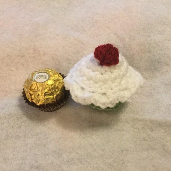 a37d4984f82ee Yum Ferrero Rocher Crochet Cupcake Cover Cozy Cosy Too