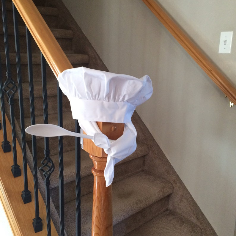 Adult White Chef Hat with Neckerchief and Spoon