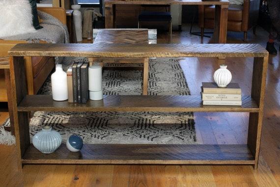 Reclaimed Wood Bookshelf Shelves Oak