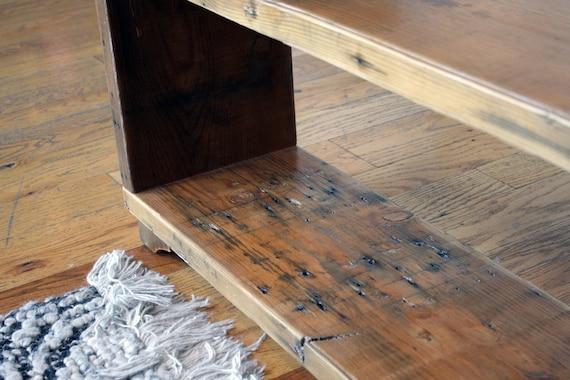 Custom Reclaimed Wood Bookshelf . Wood Bookcase . Rustic Wood | Etsy