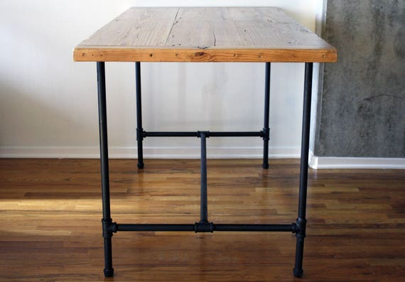 Reclaimed Wood Kitchen Table . Industrial Furniture . Custom Dining Room  Table . Kitchen Table . Chicago Artist . Woodworker