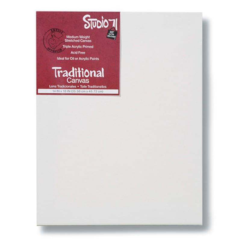 triple acrylic primed Studio 71 Premium Traditional 14 in x 18 in Canvas Acid Free