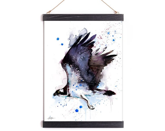 Osprey Watercolor Painting Framed, Wall Hanging print, Animal, Home Decor, Wall Art, Illustration, Ready to Hang, Nursery, Print