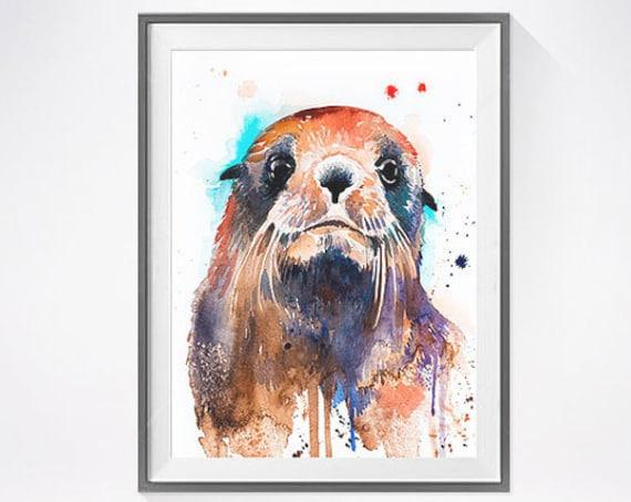 Original Watercolour Painting- Fur seal  art, animal, illustration, animal watercolor, animals paintings, animals, portrait,