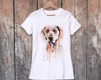 Shirt donna acquerello pulcinella di mare tee di women teen etsy