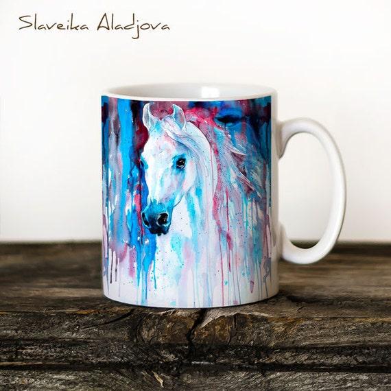 Horse 4 Mug Watercolor Ceramic Mug Unique Gift Coffee Mug Animal Mug Tea Cup Art Illustration Cool Kitchen Art Printed mug