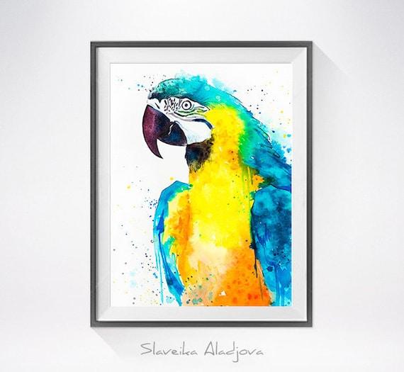 Original Watercolour Painting- Macaw Parrot art, animal, illustration, animal watercolor, animals paintings, animals, portrait,