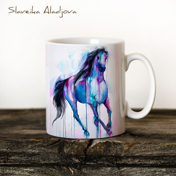 Horse 3 Mug Watercolor Ceramic Mug Unique Gift Coffee Mug Animal Mug Tea Cup Art Illustration Cool Kitchen Art Printed mug