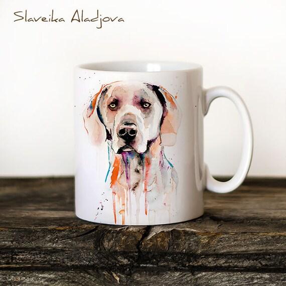 Weimaraner Mug Watercolor Ceramic Mug Unique Gift Coffee Mug Animal Mug Tea Cup Art Illustration Cool Kitchen Art Printed mug dog
