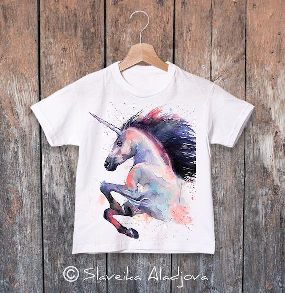 Unicorn T-shirt, Cute unicorn kids tee, Boys' T-shirt, Girls' tees, horse t-shirt, Graphic T-Shirt, ring spun Cotton 100%