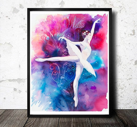 Original Watercolour Painting-  Ballerina  Fashion Illustration, ballerinas, ballet, dance, dancers,