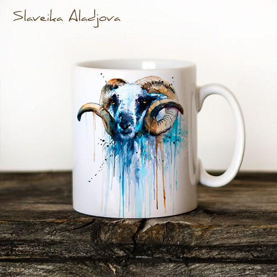 Sheep Mug Watercolor Ceramic Mug Unique Gift Coffee Mug Animal Mug Tea Cup Art Illustration Cool Kitchen Art Printed mug