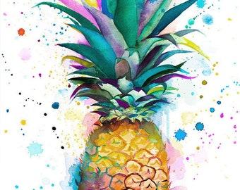 Original Watercolour Painting- Pineapple art,, illustration, paintings,