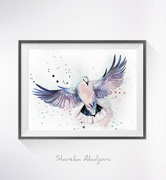 Original Watercolour Painting- Dove art, animal, illustration, animal watercolor, animals paintings, animals, portrait,