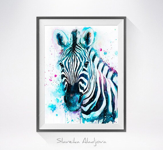 Original Watercolour Painting- Zebra ,Zebra  art, animal illustration, animal watercolor, animals paintings, animals, portrait,