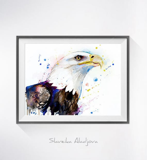 Original Watercolour Painting- Bald Eagle art, animal, illustration, animal watercolor, animals paintings, animals, portrait,
