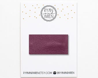 Deep orchid leather snap clip