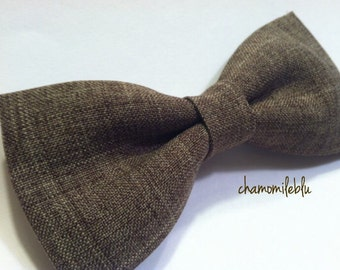 mens, boys brown bow ties // clip, pretied, self tying // wedding, groomsmen ring bearer, accessories