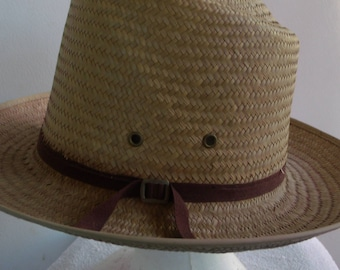NEW Vintage AUTHENTIC SUNSET Amish Mens Straw Hat 98633c81f1c