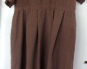 AUTHENTIC  NEW, Handmade by Amish, AMISH Ladies Dark TanDress  42 Bust,  38 Waist,   51  Length ,