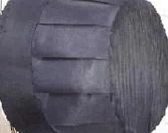 Sale......VINTAGE AUTHENTIC  Handmade, AMISH Ladies Black Silk Prayer Cap Bonnet