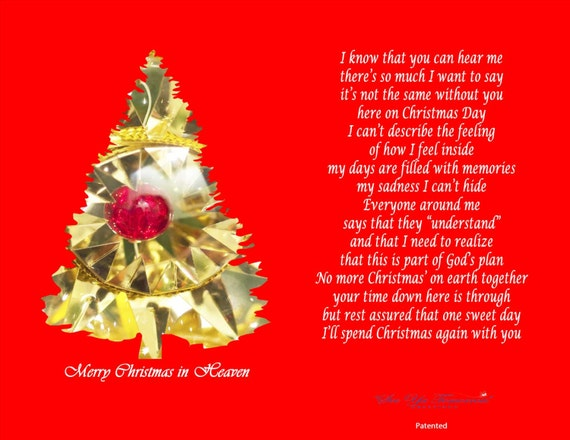 Merry Christmas In Heaven.Merry Christmas In Heaven Memorial Card Holder