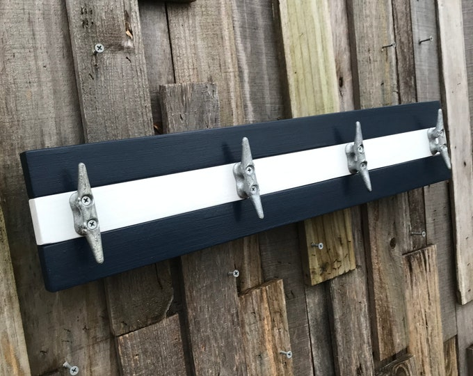Bloat Cleat Rack, Navy and White