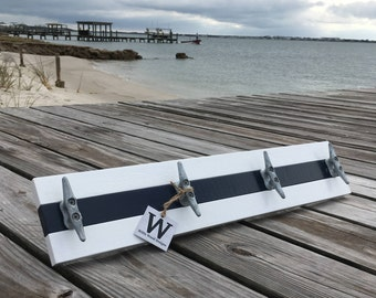 Bloat Cleat Rack, White and Navy