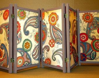 ac9d241379008 Portable screen table divider. Foling Mini Room Divider. Mini silk screen -  Small India