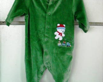 a21cd6c4a NEW Green Velvet ROMPER Child Of Mine CARTERS Size 8 to 12 pounds small,  Never Worn,Perfect Condition, Sold As Is