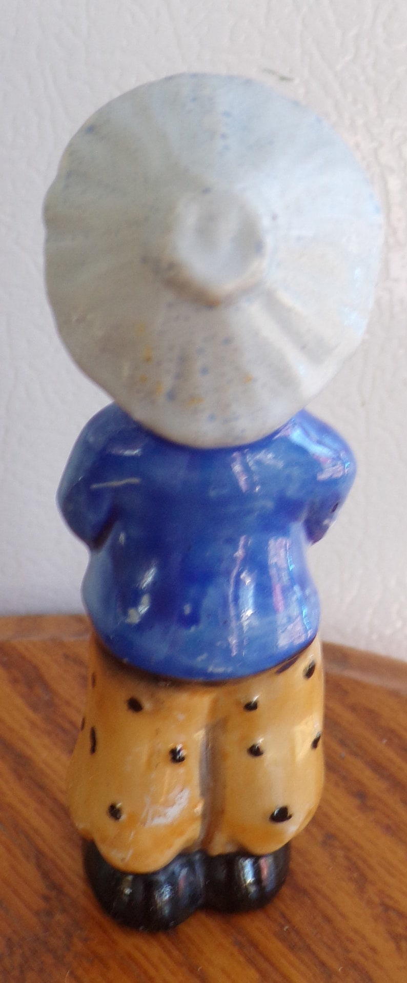 VINTAGE Bone CHINA Japanese Boy With Horn 4 12 Made In OCCUPIED Japan New,Never Used  Perfect Condition Sold  As Is