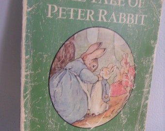 VINTAGE, The Tale of Peter Rabbit by Beatrice Potter,  Childrens Book, Very Old,  Pre-owned, Good Vintage Condition