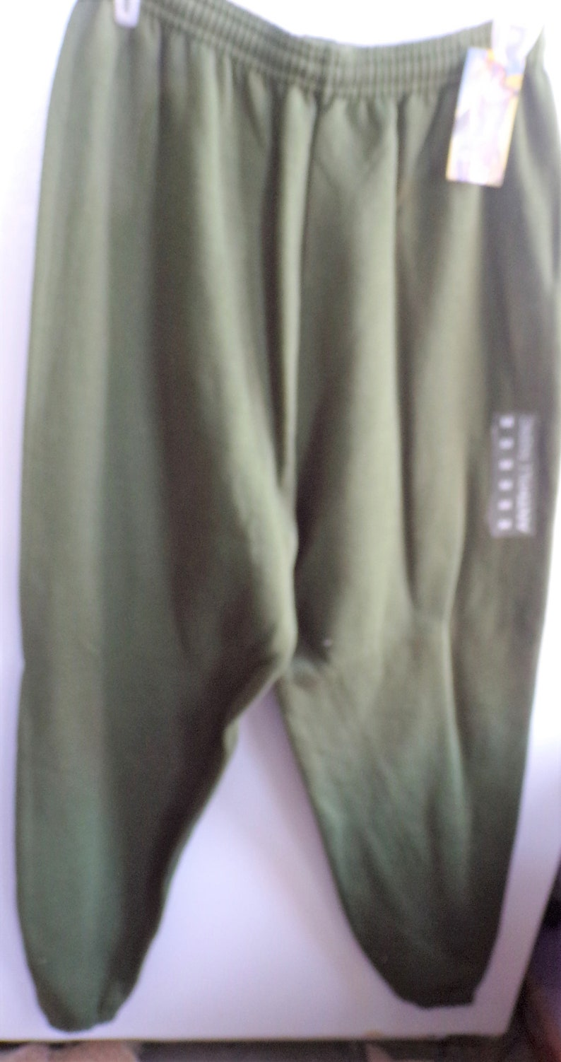 NEW Tags Attached Perfect Condition Never Worn Size Med Sold As Is VINTAGE  USA Oyimpic Green Anti-Pile Sweat Pants