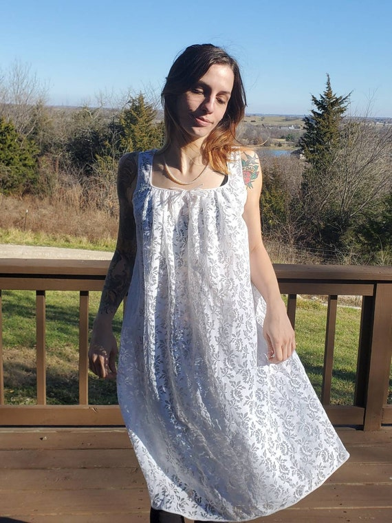 white lace vintage slip dress