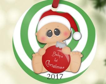 Christmas Ornament, Ornament, Christmas Ornaments, Custom Ornament, Tree Ornament, Holiday Ornament, Babies 1st Christmas Ornament,
