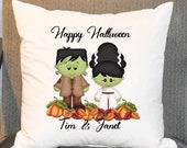 Halloween Frankenstein Pillow Cover, Halloween Decor,