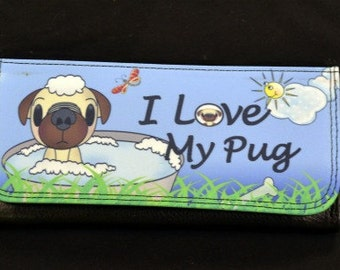 Pug Wallet, Dog Gifts, Dog Lover Gifts, Pug, Animal Gifts, Love Dogs, Love Pugs, Pet Wallet, Pet Gifts, Pug Accessories, Love Dogs
