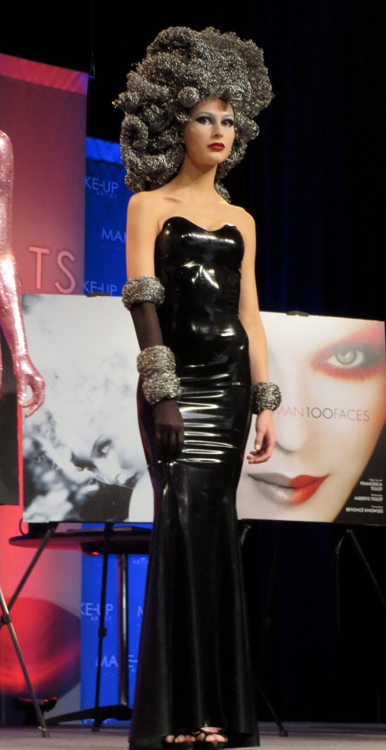 16c1c28fb34 Strapless black Jane Doe Latex gown Sale Ready to ship