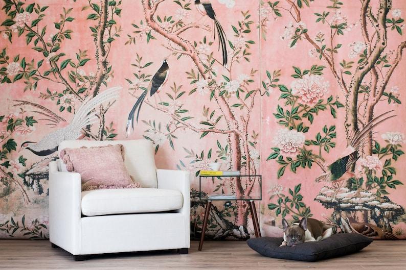 Astonishing Magnolia Wallpaper Chinoiserie Retro Wallpaper Download Free Architecture Designs Rallybritishbridgeorg