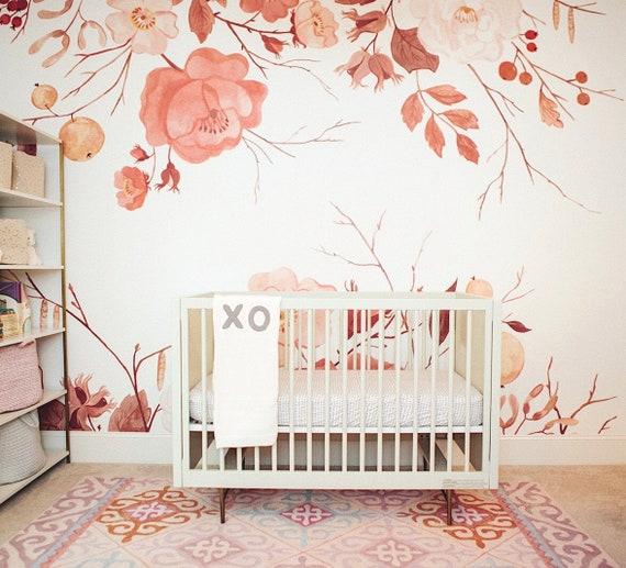 Marigold Mural Whimsical Fall Floral Wallpaper