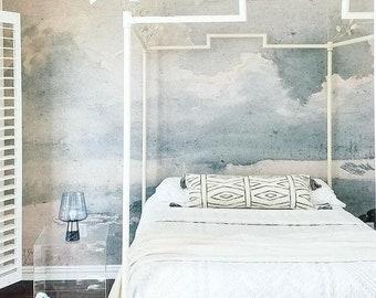 Clouded Mural - Sky Scene Wallpaper, Cloud Scene