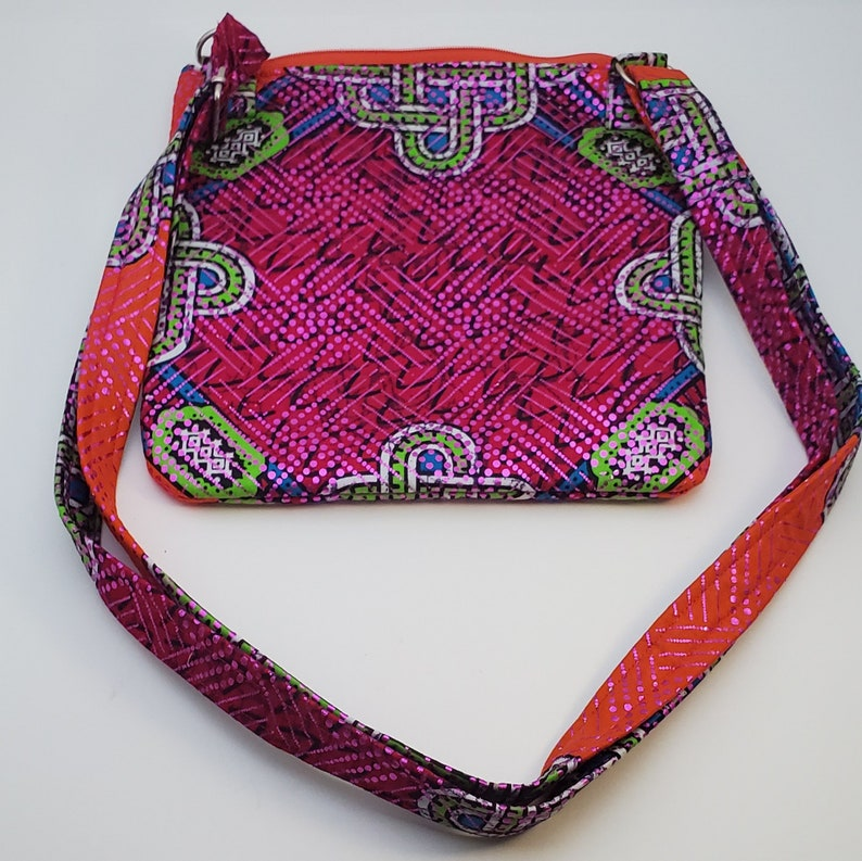 African Print Crossbody with Outer Pocket