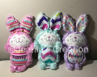 Personalized Stuffed Bunny  Personalized Easter Bunny  Easter Bunnies c3eaa032e