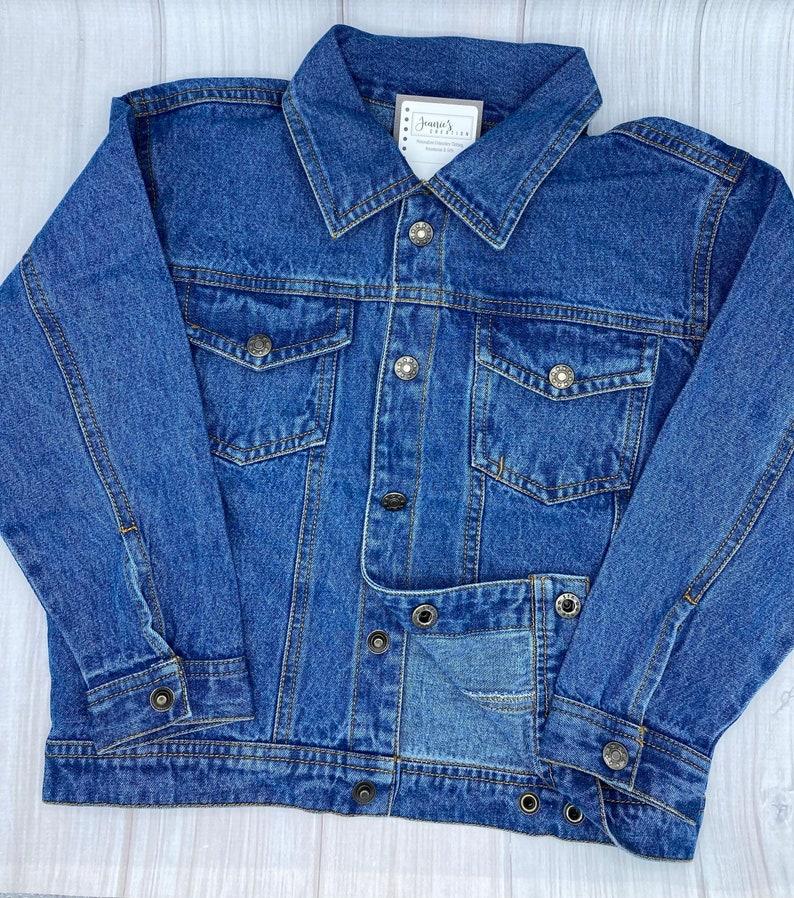 Personalized Toddler Denim Jacket Boy Denim Jacket Embroidered Kids Denim Jacket Personalized Jeans Jacket Monogrammed Girl Denim Jacket