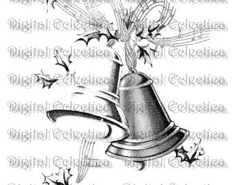 Christmas Bells Image PNG Jingle Print Clipart Art No 0125