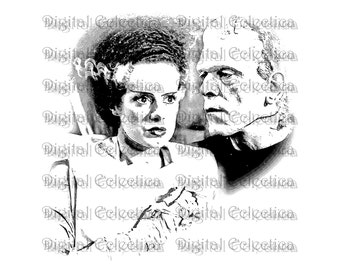 Frankenstein Bride Halloween. Frankenstein PNG. Halloween PNG. Halloween Monster Print. Frankenstein Image. Frankenstein Picture. No. 0079