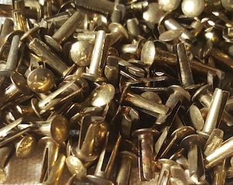 Brass Rivets / Fasteners / Vintage / Jar Full / Closures / Craft Work / A MUST!!