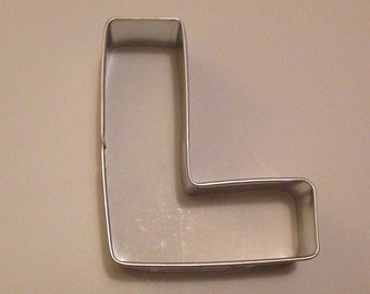 """3"""" Letter L Cookie Cutter"""